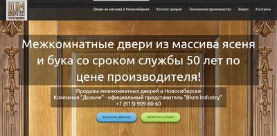 продвижение сайта по продаже дверей  новосибирск